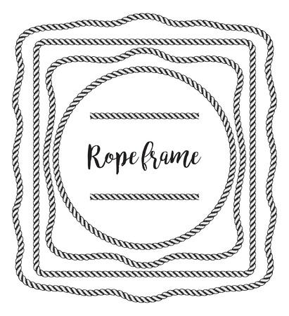 Rope frame. Иллюстрация