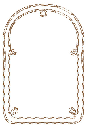 Rope frame. Imagens - 85053361