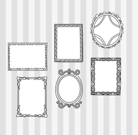 Set of frame doodle isolated on white background. Фото со стока - 85053360