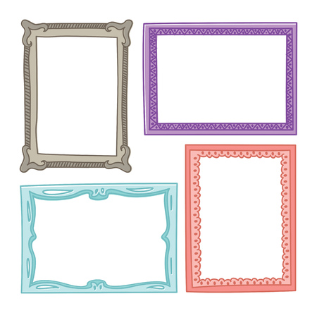 Set of frame doodle isolated on white background. Standard-Bild - 85053368