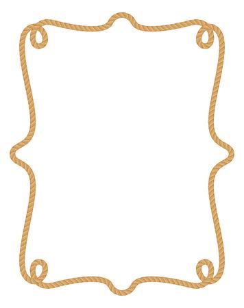 Rope frame. Vettoriali