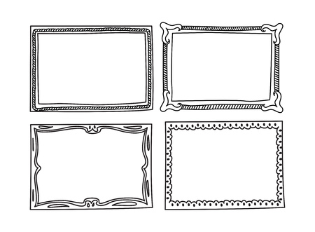Set of frame doodle isolated on white background. Фото со стока - 85053370