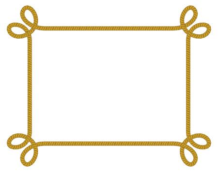 Rope frame. Ilustração