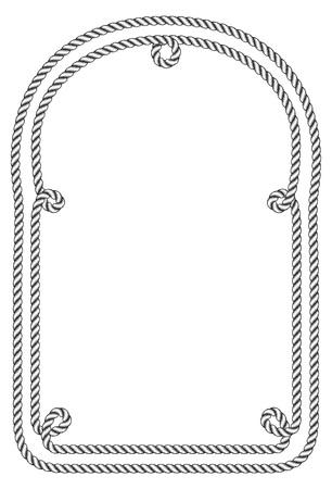 Rope frame. Imagens - 85053371