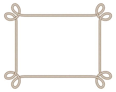 Rope frame. Фото со стока - 85053373