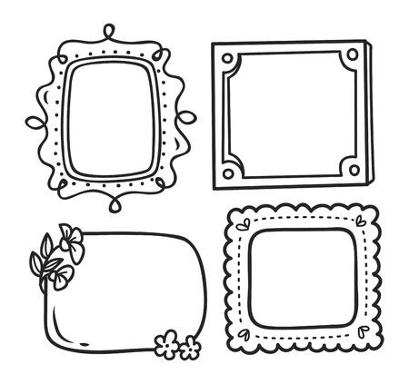 Niedlichen Rahmen in Doodle-Stil Standard-Bild - 85937571