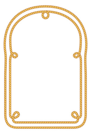 Rope frame. Imagens - 85053377