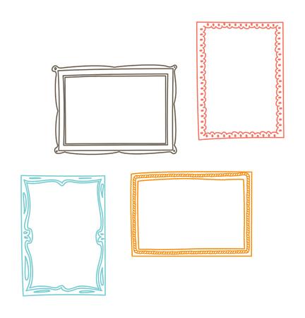 Set of frame doodle isolated on white background. Imagens - 85053388