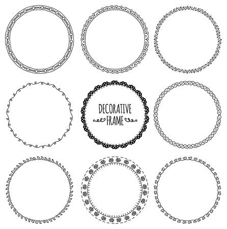 Set of decorative frame doodle. Imagens - 85877609