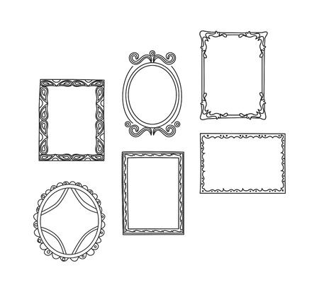 Set of frame doodle isolated on white background. Фото со стока - 85053395