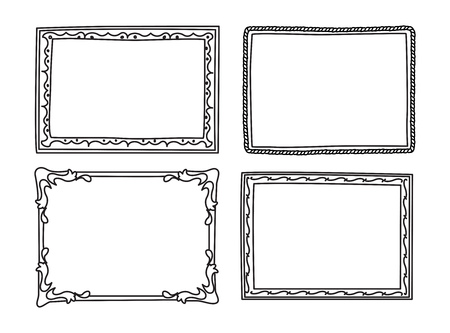 Set of frame doodle isolated on white background. Фото со стока - 85053396