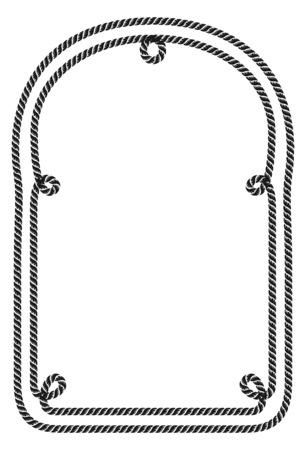 Rope frame. Imagens - 85053397