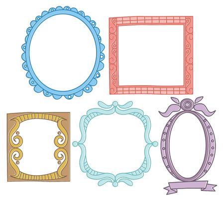 Set of frame doodle isolated on white background. Фото со стока - 85053407