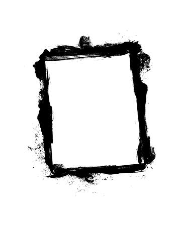 Grunge frame isolated on white background.