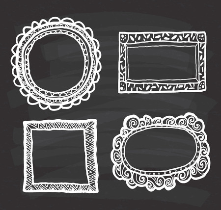 Set of frame doodle isolated on white background. Фото со стока - 85053411