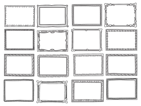 Set of frame doodle isolated on white background Imagens - 85053423