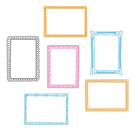 Set of frame doodle isolated on white background Standard-Bild - 85053422