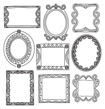 Set of frame doodle isolated on white background Standard-Bild - 85053429