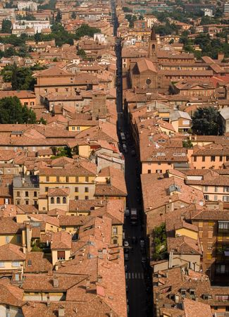 View of Bologna rooftops.