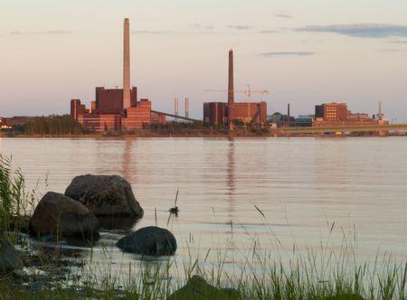 Coal plant near nature