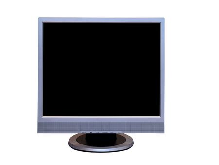 Isolated LCD monitor on a white background.