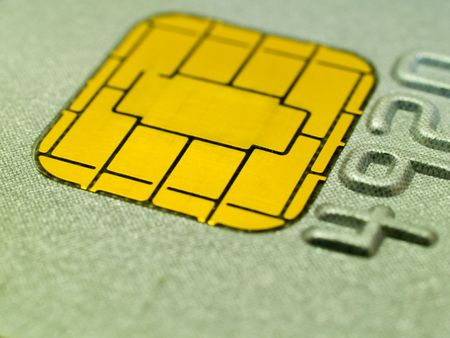 Close-up of a chip on a credit card. Shallow DOF. Stock Photo - 720269