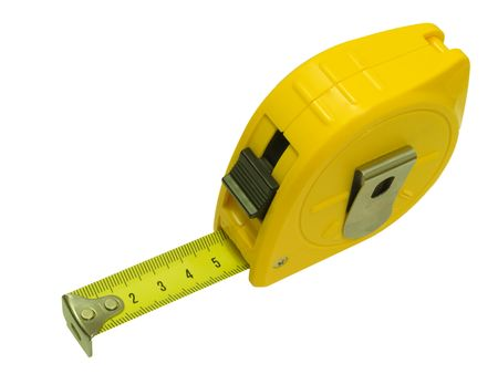 Tape measure isolated on a white background.
