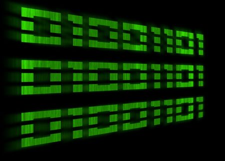 Green binary code with a motion blur on a black background Stock Photo - 830366