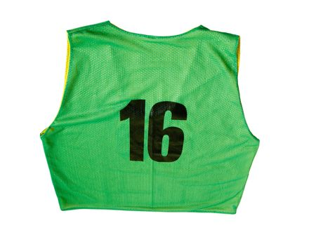 A green sports jersey isolated on a white background photo