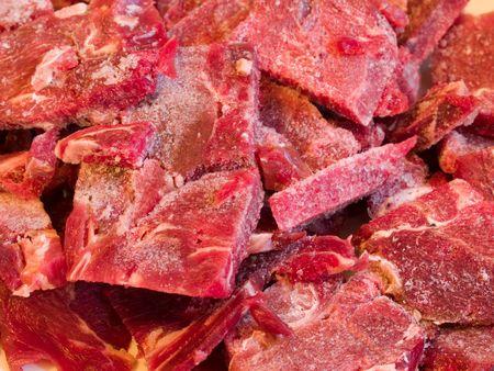 Background of frozen reindeer meat