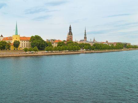 A view of old Riga over the Daugava river. Stock Photo - 1171125