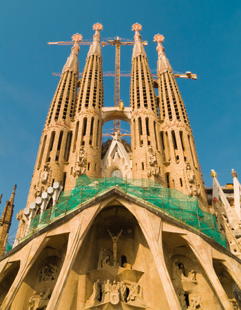The still unfinished Sagrada Familia in Barcelona, Spain Stock Photo - 1726153