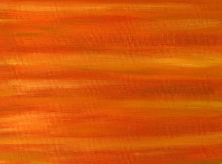 Abstract background - An orange oil painted canvas