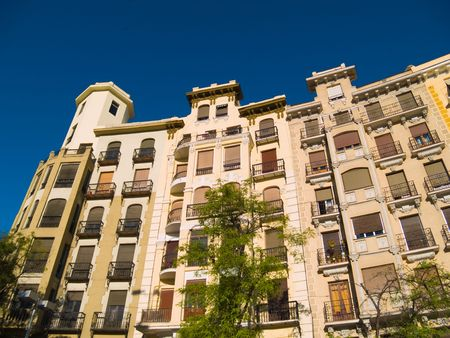 Apartment buildings in Madrid, Spain. Stock Photo - 3283020