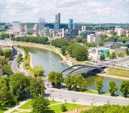 vilnius: An aerial view of Vilnius, capital of Lithuania