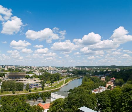 An aerial view of Vilnius, capital of Lithuania Stock Photo - 5062247