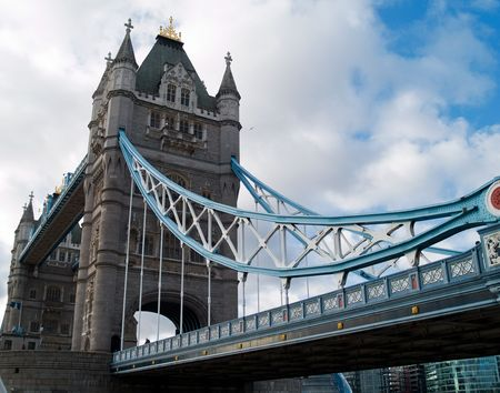 The famous Tower Bridge in London, England Stock Photo