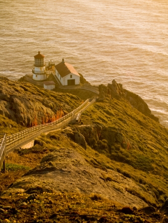 The lighthouse at Point Reyes, California at Sunset