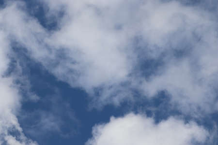 beautiful bright white and gray clouds on a blue sky