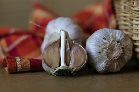 A Few Garlic on the Kitchen Table