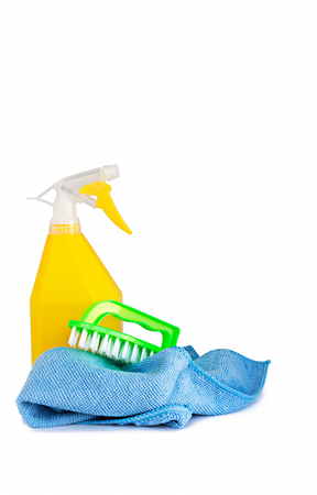 House Cleaning Tool. Isolated on white background. Props