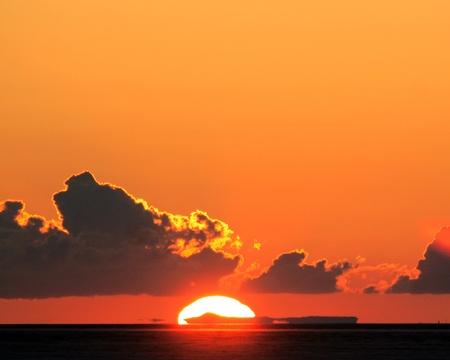 Sunrise over the Bonneville Salt Flats photo