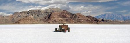 Bonneville Salt Flats Panorama  photo