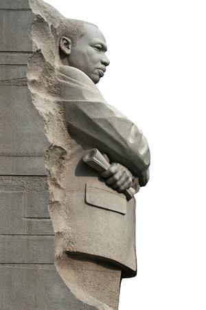 Geïsoleerd rechter zijaanzicht van Martin Luther King Memorial in Washington DC. Redactioneel
