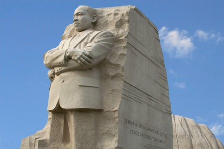 Landscape style photo of Martin Luther King Memorial in Washington D.C.  Редакционное