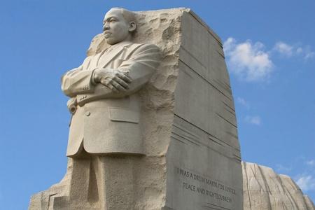 Liggende foto van Martin Luther King Memorial in Washington DC