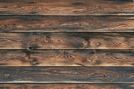 Picture of  well weathered, vintage wood siding( 5 Boards) with a few nails here and there. Boards length wise across a landscape style photo, great texture. Stock Photo - 13109516