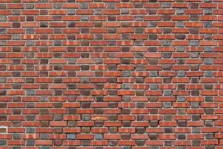 Vintage pattern brick wall using dark brick ends and lighter brick sides  Stock Photo