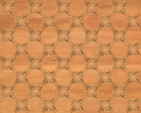 marqueteria: Baldosa de madera oscura color marrón dorado con tablero de ajedrez más oscura de la mariposa patrón de incrustaciones de imitación de madera Marquetería Gran diseño de textura para el suelo, fondos de escritorio de aspecto clásico de Niza Foto de archivo