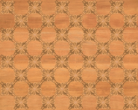 Wood tile, dark golden brown coloring with darker butterfly checkerboard pattern inlay  Faux Wood Marquetry Great textured design for flooring, wallpaper  Nice classic look